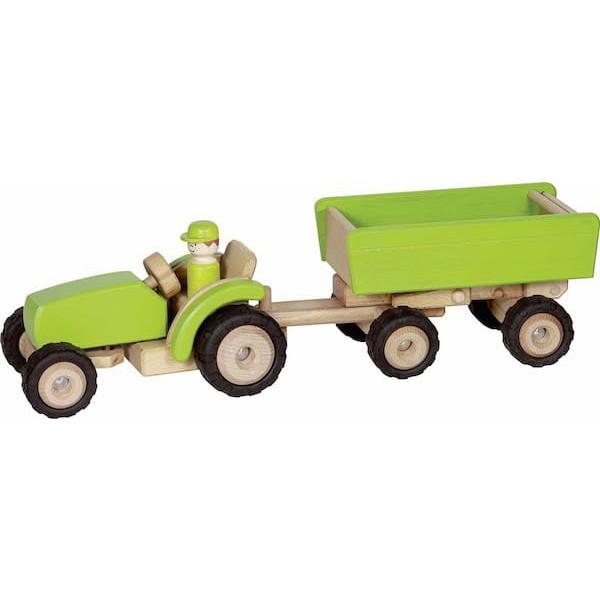 Traktor s prikolico - Zeleni XL