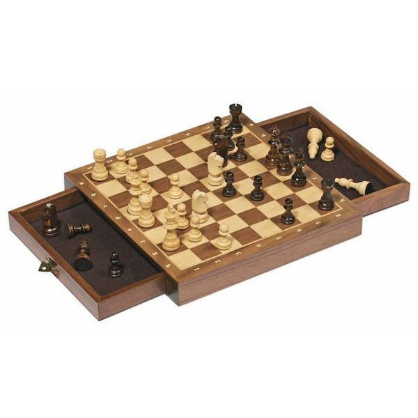 Leseni Šah z magnetnimi figurami