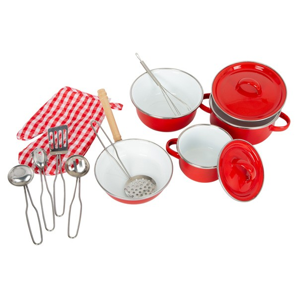 Kuhinjski set posode - Rdeč
