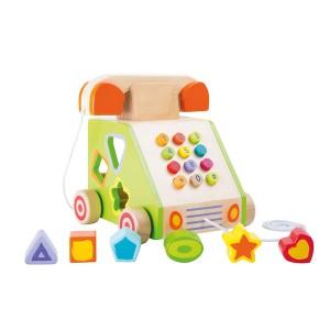 Otroški leseni telefon