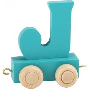 Vlak - črka J
