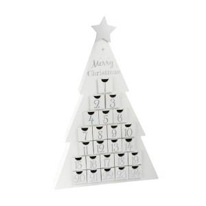 Adventni koledar belo drevo
