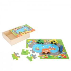 Puzzle - Škatla z avtomobilčki