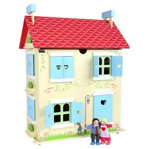 Hiša za punčke s pohištvom