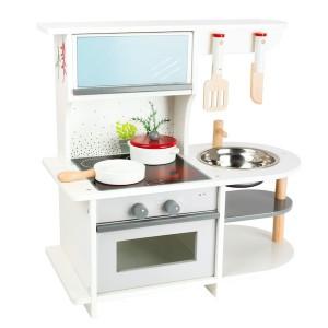 Otroška lesena mini kuhinja z umivalnikom
