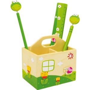 Škatla za svinčnike - Žabica