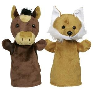 Ročne lutke - živali iz gozda