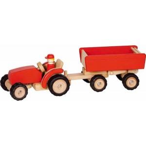Traktor s prikolico - Rdeč XL