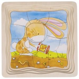 Večplastna sestavljanka - Zajček in korenček