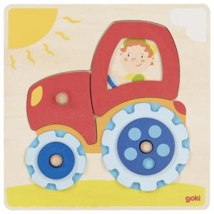 Lesena vstavljanka - Traktor