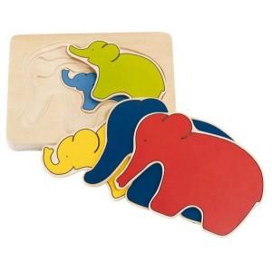 Sestavljanka - Slončki po velikosti