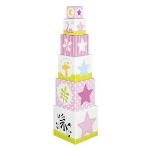 Stolp iz kock - Roza pastel