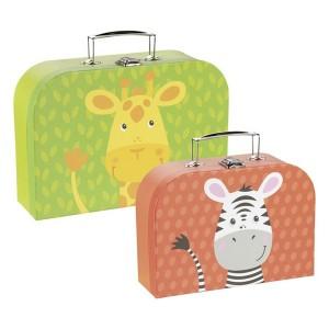Kovček - zebra in žirafa