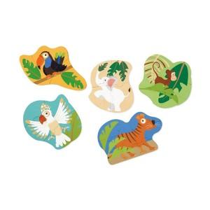 Puzzle v škatli - Živali iz džungle