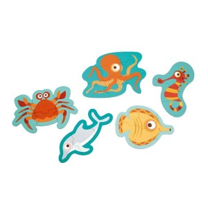 Puzzle v škatli - Živali iz oceana