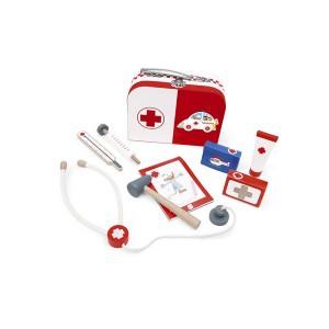 Zdravniški kovček -Rdeč