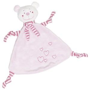 Ninica medvedek s srčki - roza