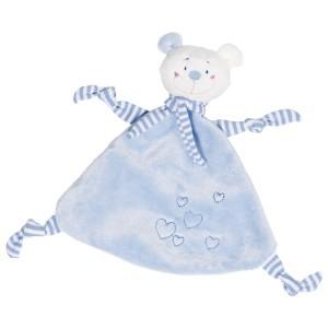 Ninica medvedek s srčki - moder